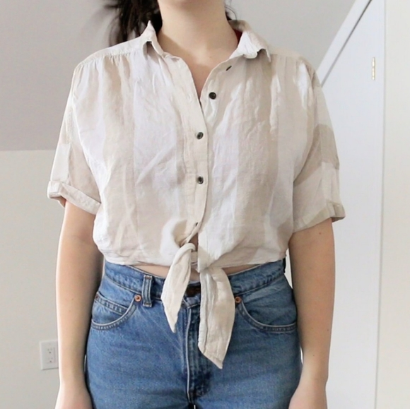 Urban Outfitters tie crop top